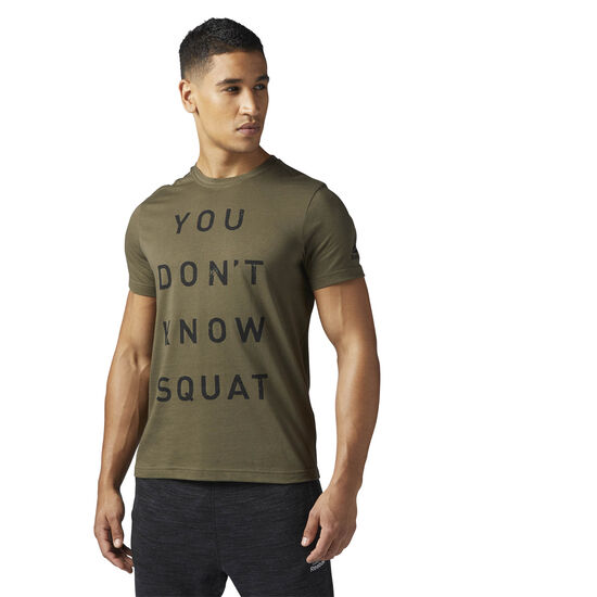Reebok - Dont Know Squat Tee Army Green BQ8293