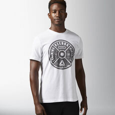 Reebok - Bumper Plate Graphic Tee White AY1045