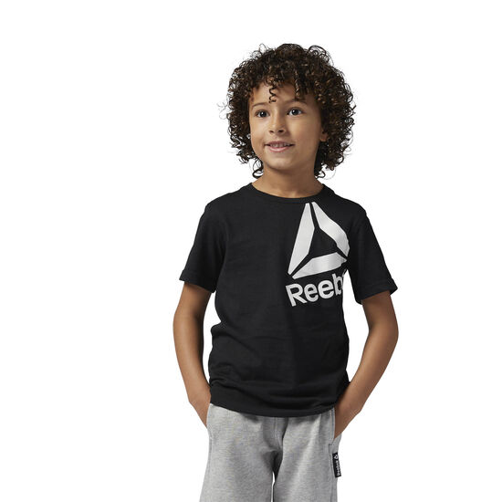 Reebok - Boys Essentials T-Shirt Black/Chalk BS1414