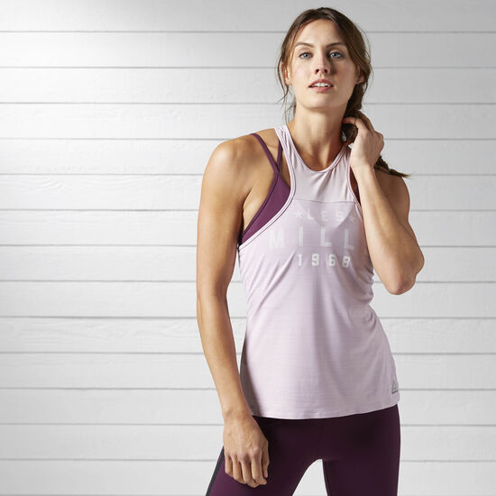 Reebok - LES MILLS Performance Tank Shell Purple BJ9617