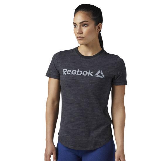 Reebok - Elements Logo Marble T-Shirt Black BS4043