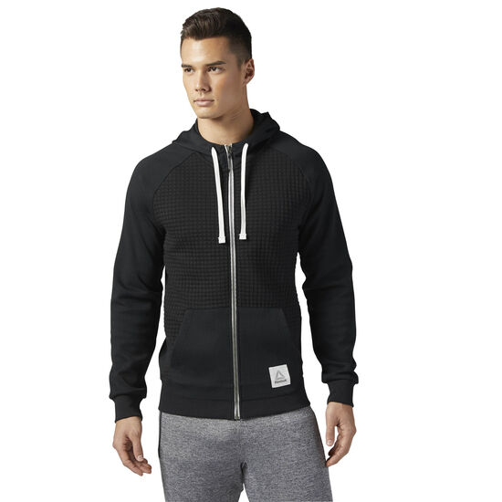 Reebok - Elements Quilted Full Zip Hoodie Black CD9285
