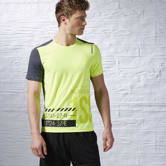 Reebok - Remera de Running One Series ACTIVChill Solar Yellow AX9325