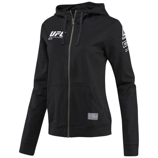 Reebok - UFC Ultimate Fan Full Zip Hoodie Black BR0371