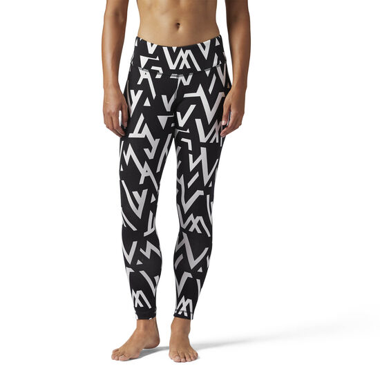 Reebok - Workout Ready Printed Legging Black BQ2485