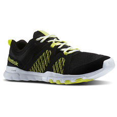 Reebok - Men's SubLite Train RS Black/High Vis Green/White M40994