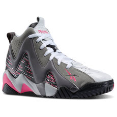 Reebok - Men's Kamikaze II Mid Carbon / Shark / Solid Grey / Steel / White / Pink M43289