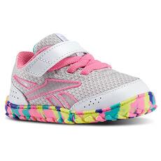 Reebok - Infants VentureFlex Stride II White/Steel/Electric Pink/Timeless Teal/Purple M42080