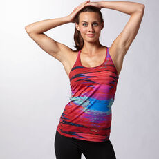 Reebok - Women's Yoga Glitch Tank Rebel Berry Z89841