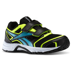 Reebok - Kids Pheehan Run 2.0 TX 2V Black/Solar Yellow/Neon Blue/White M42554