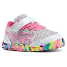 Reebok - Bebes VentureFlex Stride II White/Steel/Electric Pink/Timeless Teal/Purple M42080