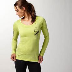 Reebok - Femmes Reebok CrossFit Graphic Long Sleeve chartreuse f14-r Z89047