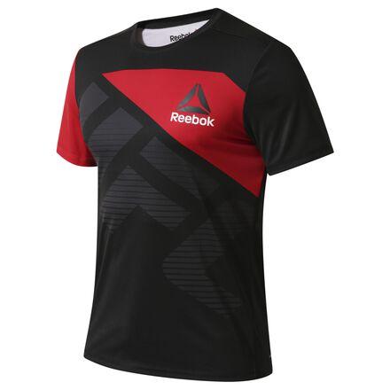 NoneМужчины<br>Эта футболка из нашей коллекции Reebok UFC Fight Kit позволит тебе стать ближе к самым лучшим и известным бойцам этого чемпионата. Благодаря плоским швам и прочному легкому материалу она отлично подходит как для тренировок, так и для повседневной жизни.<br>