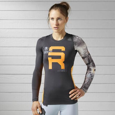 Reebok Компрессионная футболка с длинным рукавом Spartan Race Long Sleeve