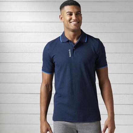 Reebok Спортивная футболка-поло Elements Tipped Pique