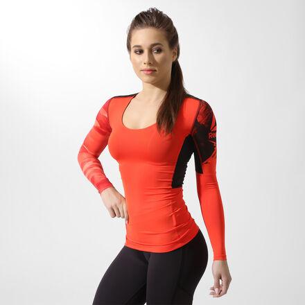 Reebok Компрессионная футболка с длинным рукавом ACTIVCHILL
