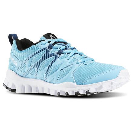Reebok Womens RealFlex Train 4.0 in Crisp Blue / Noble Blue / White / Black Size 6 - Training Shoes