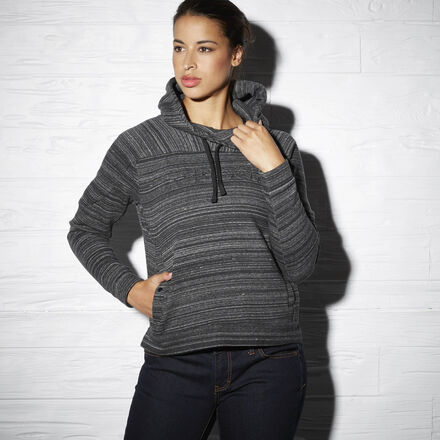 Reebok Womens Fleece Pullover Hoodie in Black Coal Size M - Casual Apparel