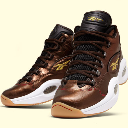 reebok mens x villa question mid liberty in dark brown rbk brass antique copper - Best Day After Christmas Sales
