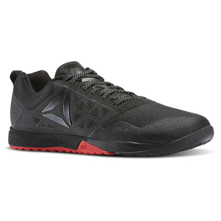Reebok Mens CrossFit Nano 6.0 Dark Stealth in Stealth-Black / Riot Red / Black Reflective Size 7 - Training Shoes