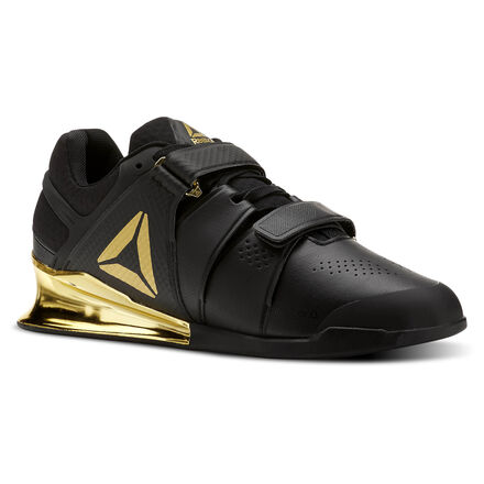 Reebok Mens Legacy Lifter in Black / Gold Size 10 - Training Shoes