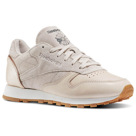 Reebok Womens Classic Leather Golden Neutrals in Vegtan / Sandtrap / Rose Gold / Chalk / Lead / Gum Size 11 - Retro Running Shoes