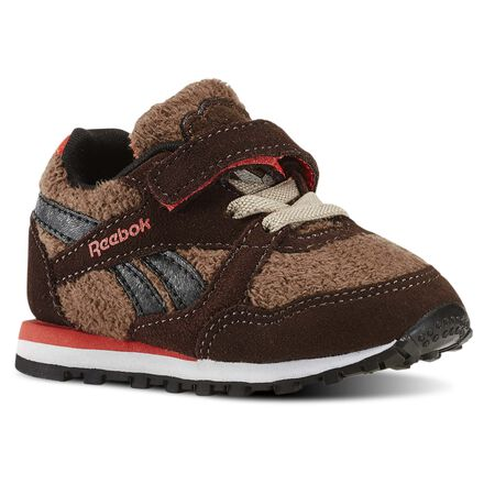 Reebok Unisex Disney Jungle Book Baloo Runner - Infant & Toddler in Earth / Dark Brown / Khaki / Black / Laser Red Size 2 - Retro Running Shoes