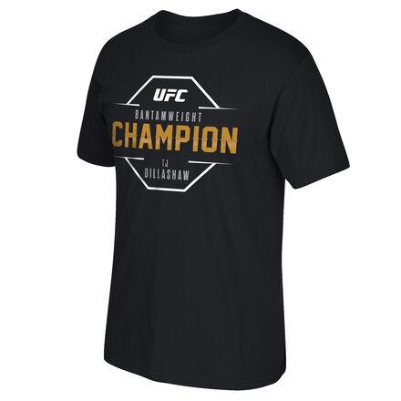 Men's Reebok UFC TJ Dillashaw Stencil Champ