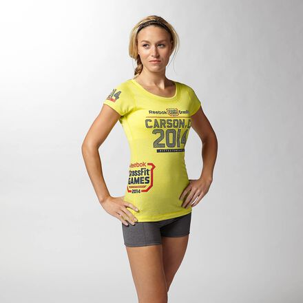 CrossFit Womens Yellow Reebok 2014 Games Shirt