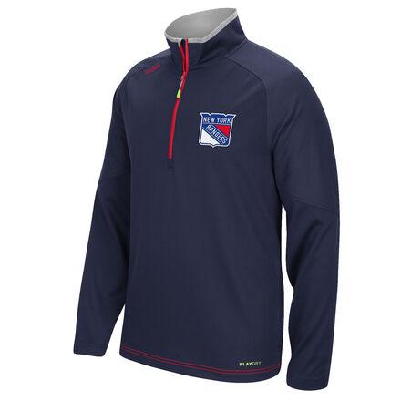 Men's Reebok Hockey (NHL) New York Rangers Center Ice® 1/4 Zip Top