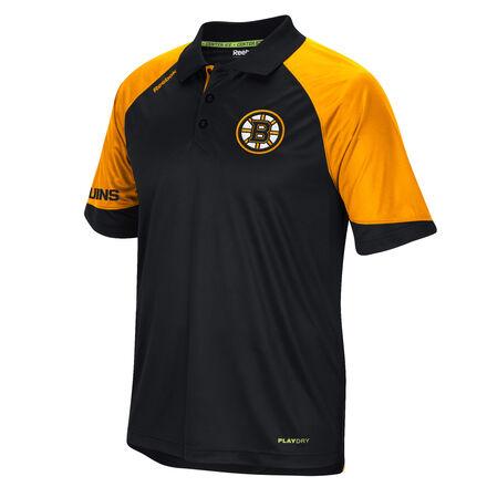 Men's Reebok Hockey (NHL) Boston Bruins Center Ice® Polo