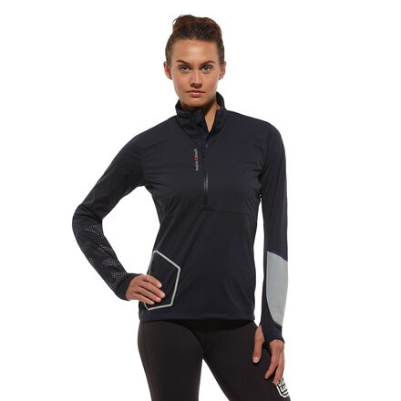 CrossFit Womens Navy Reebok LiteShield 14 Zip Pullover