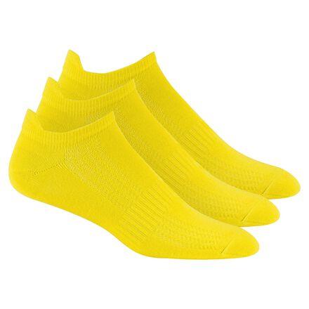 CrossFit Yellow Reebok 3 Pack No Show Thin Socks