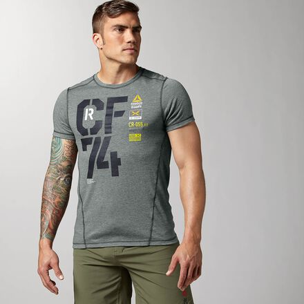 CrossFit Mens Drksag Reebok Performance CF74 Triblend Shirt