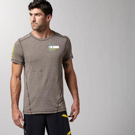 CrossFit Mens Dark Brown Reebok Performance RCF Triblend Shirt