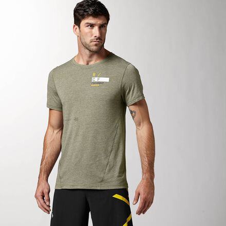CrossFit Mens Olive Green Green Reebok Performance RCF Triblend Shirt