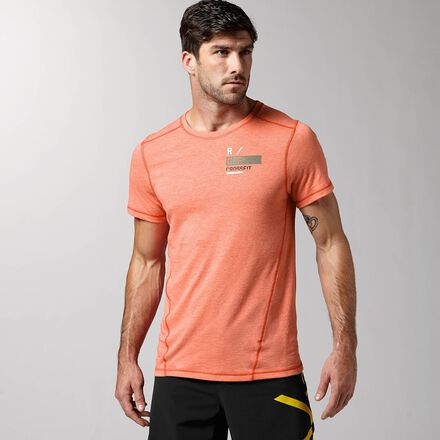 CrossFit Mens Orange Reebok Performance RCF Triblend Shirt