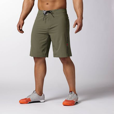 CrossFit Mens Olive Green Green Reebok Core II Training Short