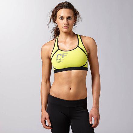 CrossFit Womens Chartreuse Reebok Performance Racer Bra