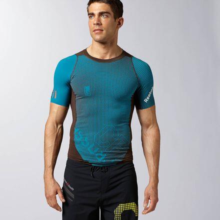 CrossFit Mens Squared Emeralderald Reebok CNTRL II Compression Shirt