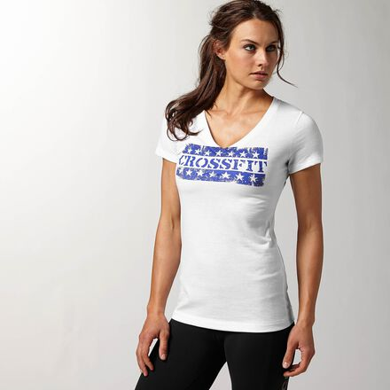 CrossFit Womens White Reebok Graphic Forging Comm Shirt
