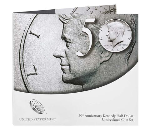 50th Anniversary Kennedy 2014 Half-Dollar Uncirculated Coin Set