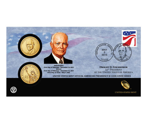 Dwight D. Eisenhower 2015 One Dollar Coin Cover