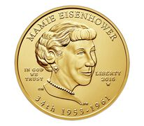 Mamie Eisenhower 2015 First Spouse Series One-Half Ounce Gold Uncirculated Coin