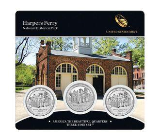 Harpers Ferry National Historical Park 2016 Quarter, 3-Coin Set