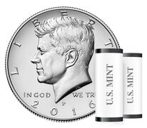 Kennedy 2016 Half Dollar, 2-Roll Set