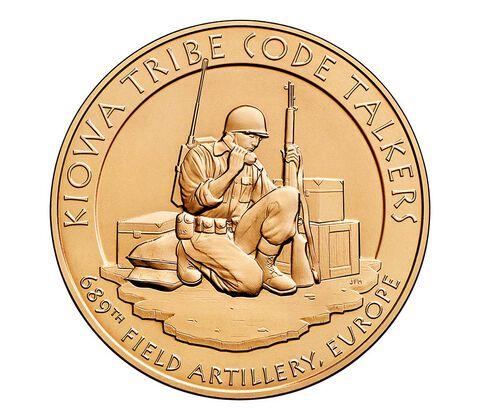 Kiowa Tribe Code Talkers Bronze Medal 1.5 Inch