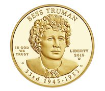 Bess Truman 2015 First Spouse Series One-Half Ounce Gold Proof Coin