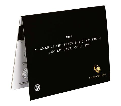 America the Beautiful 2010 Quarters Uncirculated Coin Set,  image 2
