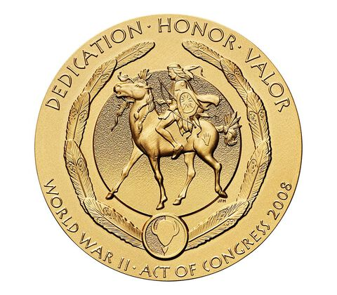 Kiowa Tribe Code Talkers Bronze Medal 3 Inch,  image 2